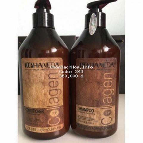 gội và xả Collagen Haneda 500 ml x 2
