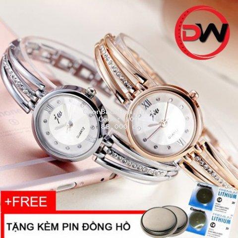 [Mã WTCHFEB giảm 20K ] Đồng hồ nữ JW dây hợp kim thời trang JW QUARTZ