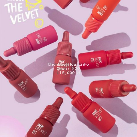 [ Mẫu mới 2019] Son Kem Lì Peripera Ink Velvet (giá sock) YESNOW