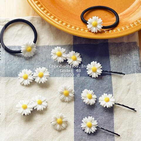 Phụ kiện tóc hoa cúc