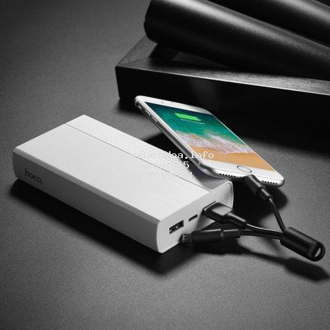 Pin sạc dự phòng 20000 mAh Hoco J33A tặng kèm cáp 2in1 (Lightning & Micro USB) sành điệu HÀNG TỐT