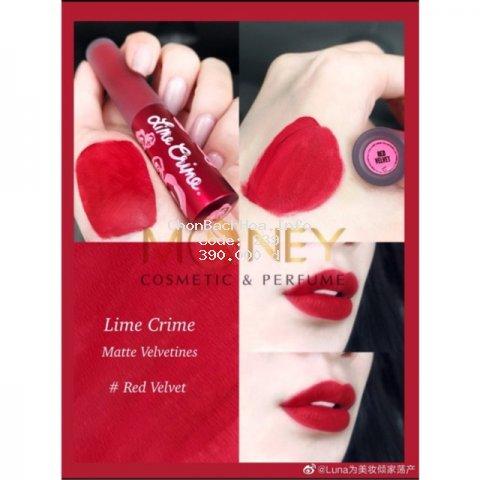 Son kem lì  LIME CRIME Velvetines – Red Velvet