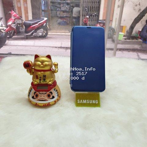 Bao Da Clear View Cover Standing Samsung A7 2017