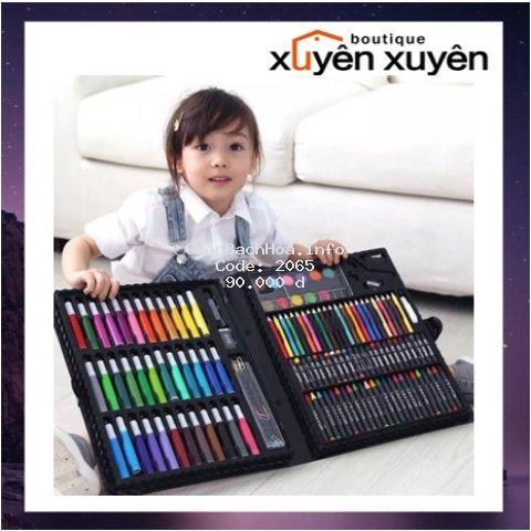 Bộ bút mầu cùng dụng cụ tô vẽ cho bé thỏa sức sáng tạo