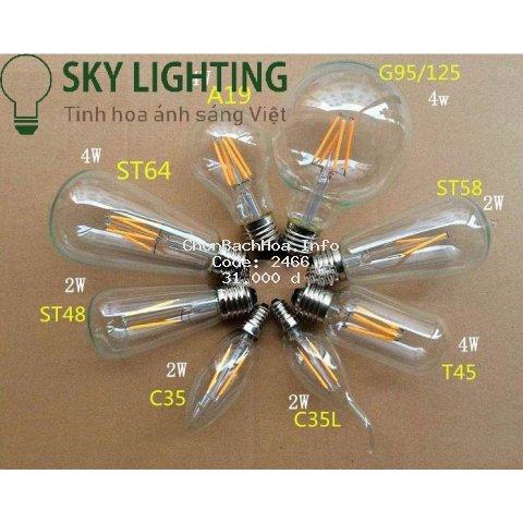 Bóng đèn Edison LED G80 4W E27