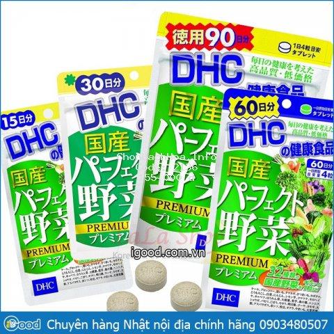 [ĐỦ BILL] Viên uống DHC rau củ quả Premium Nhật Bản