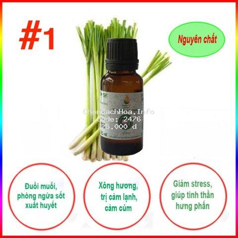 [ KHUYẾN MÃI ] Tinh dầu sả chanh nguyên chất GreenOil - 10ml, xông hương, đuổi muỗi, kiến ba khoang
