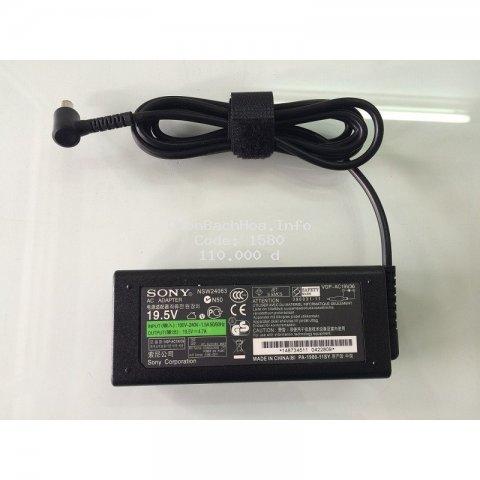 Sạc Laptop Sony 19.5V - 4.7A chân kim Nhập khẩu chất lượng cao - Tặng kèm dây nguồn