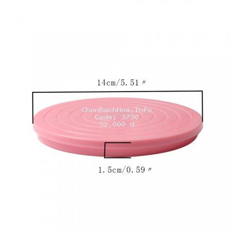 Bàn xoay bằng nhựa 14 * 1.5cm chuyên dụng làm bánh kem