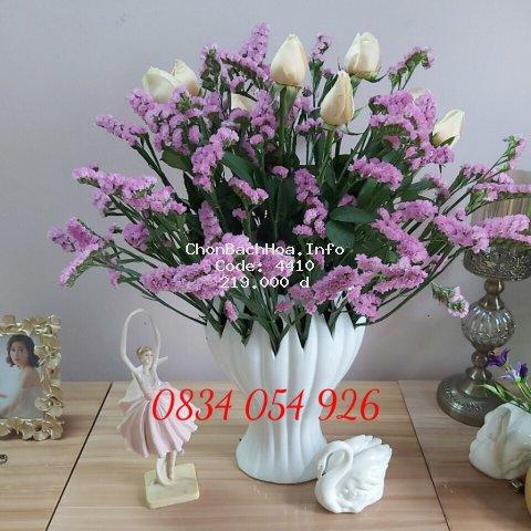 Bình Cắm Hoa Bàn Tay Cắm Hoa Lay Ơn Hoa Ly - Gốm Sứ BÁT TRÀNG CAO CẤP Loại I