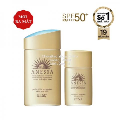 Bộ đôi chống nắng bảo vệ hoàn hảo Anessa Perfect UV Sunscreen Skincare Milk (60ml + 20ml) _95187