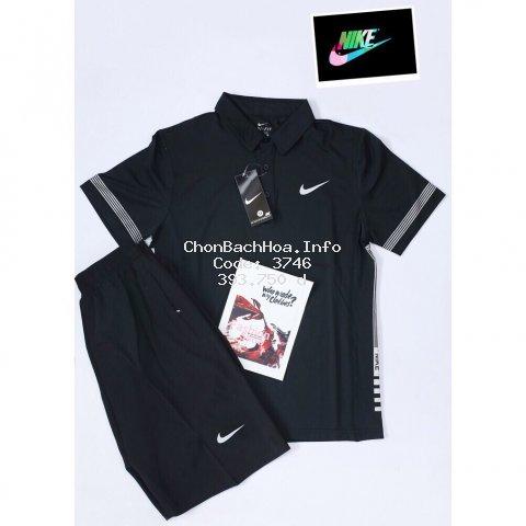 Bộ thể thao thun lạnh cổ đức viền tay cao cấp Nike [ hot trend ]