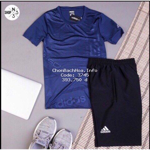Bộ thể thao thun lạnh cổ tròn ép vân cao tần Adidas Neo [ hot trend ]