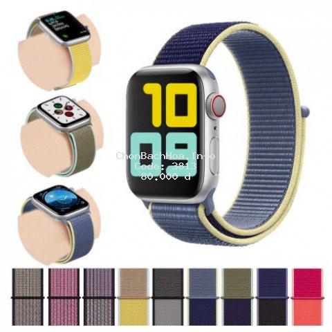Dây đeo đồng hồ Apple Watch chất liệu Nylon cao cấp ôm tay cho Series 5/4/3/2/1