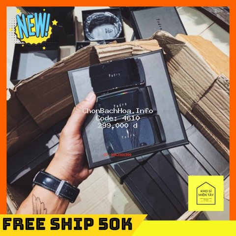 FREE SHIP 50K - Dây nịt nam Pedro full box
