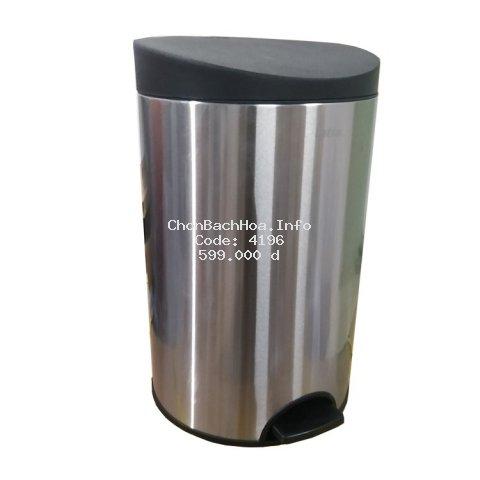 ⚡FREESHIP⚡ Thùng rác inox đạp tròn nhỏ RPS1-901