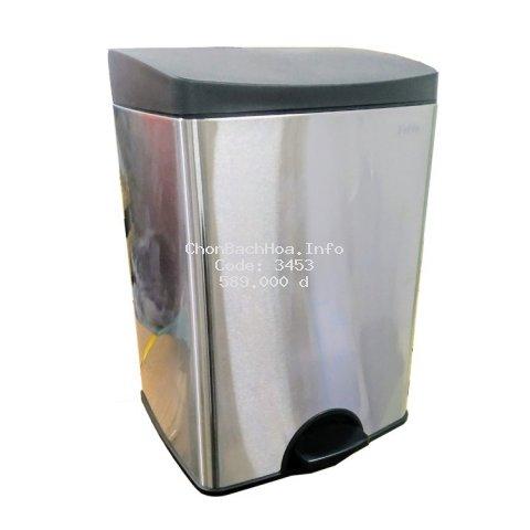 ⚡FREESHIP⚡ Thùng rác inox đạp vuông nhỏ SPS1-901