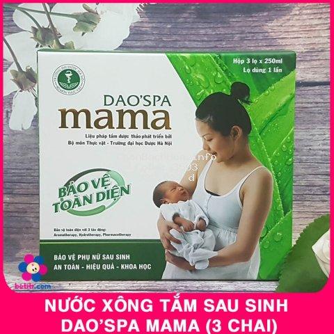Hộp 3 Chai Nước Xông Tắm Sau Sinh Cho Mẹ Dao'spa Mama