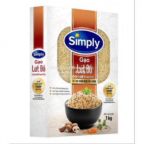 [Mã GRO1WM05 giảm 10% đơn 200K] Gạo Lứt Đồ Simply 1kg