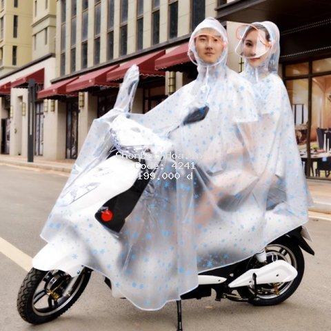 [Rẻ nhất] Áo mưa hai đầu size to nhất loại vải nhựa dẻo dai cao cấp có mũ kính