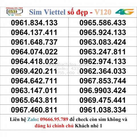 Sim Viettel V120 đầu 09 số đẹp giá rẻ 1