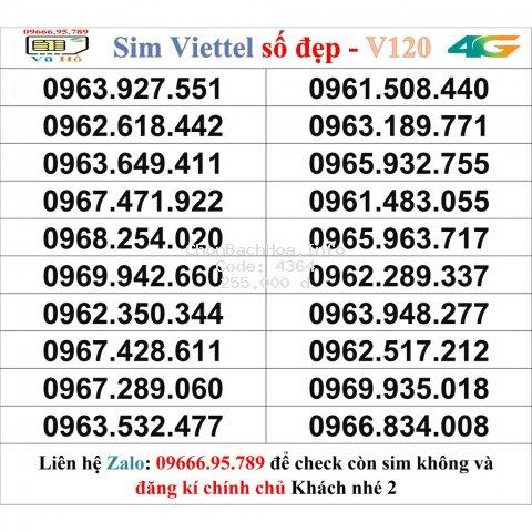 Sim Viettel V120 đầu 09 số đẹp giá rẻ 2