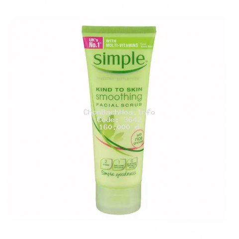 Simple Kind-To-Skin Smoothing Facial Scrub