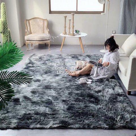 Thảm Lông Loang Trải Sàn Lông Dầy Hàng Đẹp 2019 ( Kích Thước 1m6 x 2m - Mặt Sau Chồng trơn trượt)
