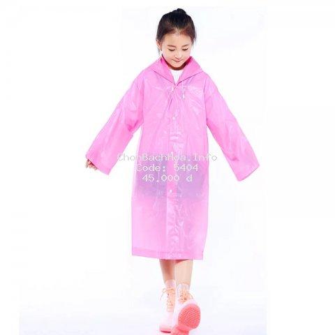 Áo mưa trẻ em nhiều màu sắc đơn giản cho bé 4-10 tuổi – AM002