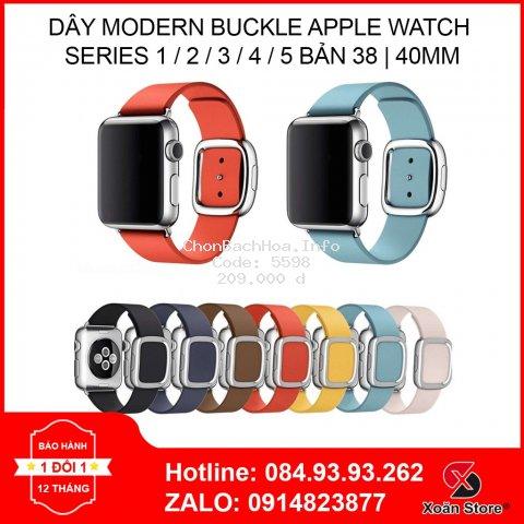 Apple Watch Modern Buckle 38mm | 40 mm – Dây Da Apple Watch nam châm hiện đại