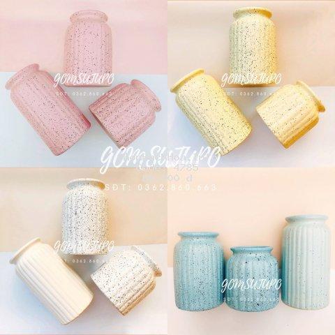 Bình Hoa/Màu Pastel - 5 Màu sắc - Gốm Sứ Bát Tràng - Lọ Hoa Tràng Trí Decor