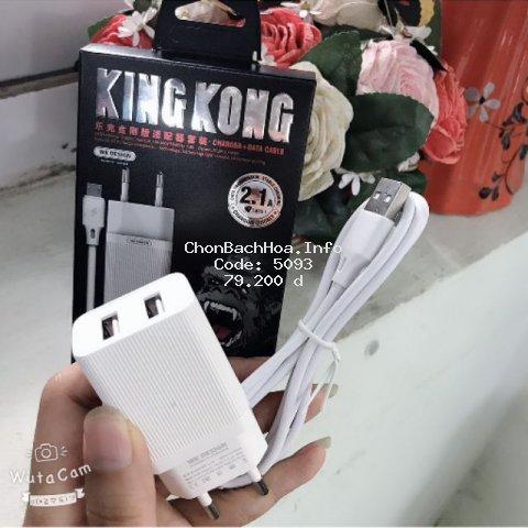 Bộ sạc WK KingKong (củ+cáp) iphone,android