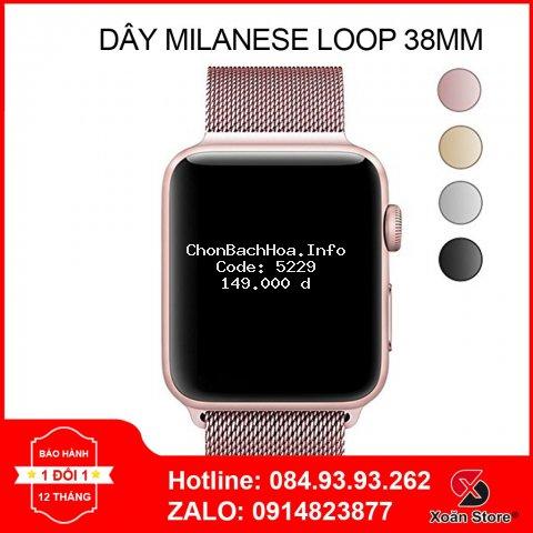 Dây Milanese Loop 38mm cho Apple Watch Series 1 | 2 | 3 | 4 | 5 (Dây thép Milan vàng, hồng  chính hãng cho AW)