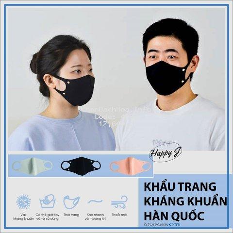 Happy J Mask - Khẩu Trang Vải Y tế kháng khuẩn Chống Bụi 3D Happy J Hàn Quốc