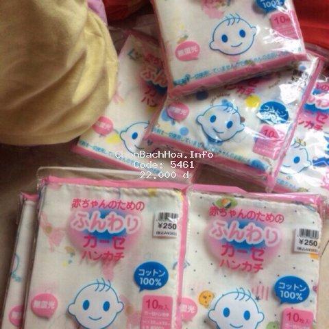 Khăn Sữa Nhật Cho Bé (túi 10 khăn)