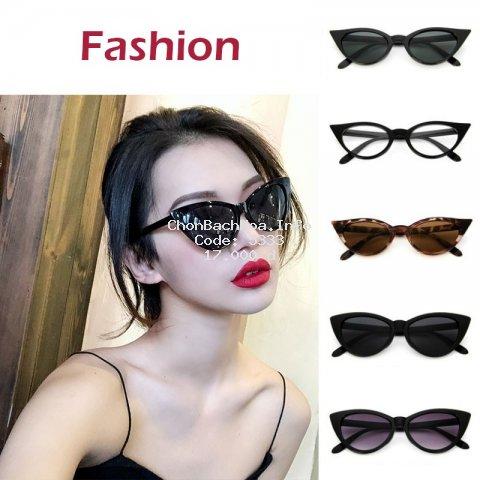 Kính mát mắt mèo chống tia UV thiết kế hợp thời trang cá tính cho nữ