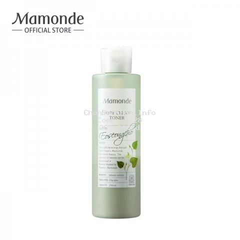 [MÃ COSMALLFM -10% ĐH250k]Nước cân bằng làm sạch dầu nhờn và ngăn ngừa mụn Mamonde Pore Clean Toner 250ml