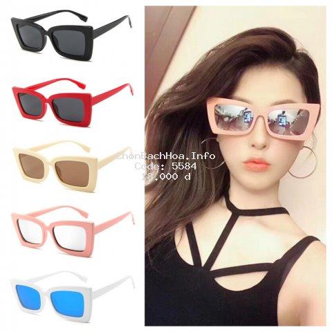 [Mã FAK123 hoàn 12K xu đơn bất kỳ] Vintage Eyeglass Sun Protection Sunglasses Square Frame Fashion Accessories