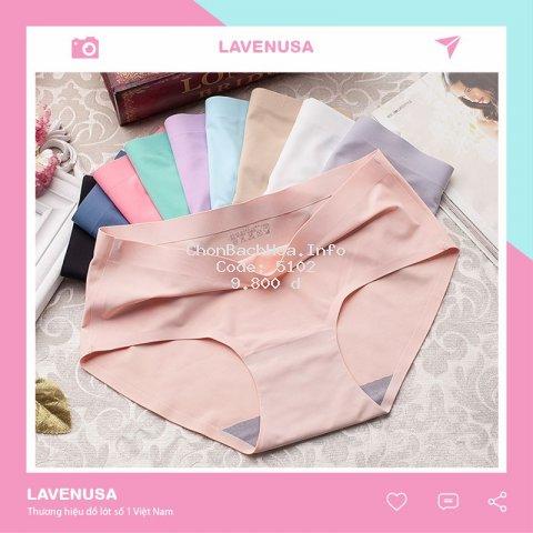 Quần lót nữ thời trang cotton giá rẻ thun lạnh cạp cao ngộ nghĩnh màu hồng mặc trong váy QL16