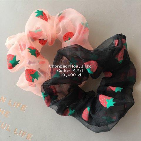 Strawberry Scrunchies Hair accessory hair Rope Hair Ties