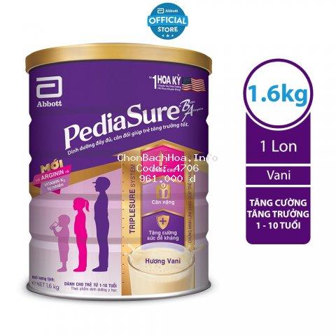 Sữa bột Pediasure 1.6kg hương vani