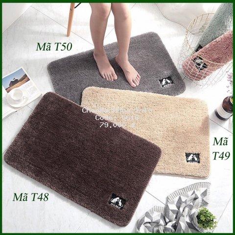 Thảm chùi chân lông mịn nhà tắm, phòng khách nhã nhặn sang trọng