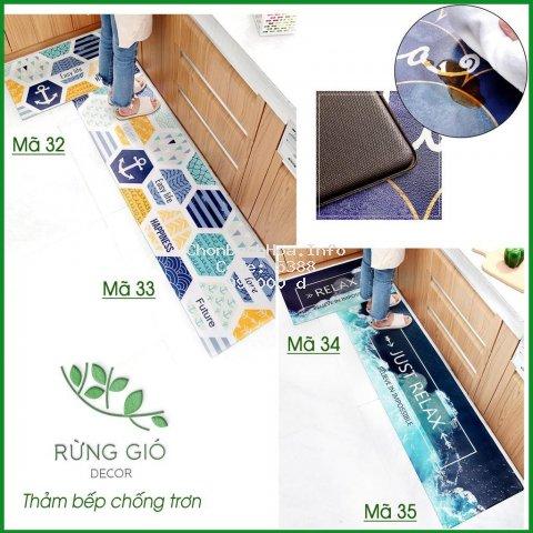 [ Thảm ] Thảm bếp, thảm nhà tắm 1 chiếc dầy dặn cao cấp