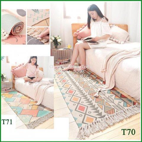 [ Thảm ] Thảm phòng khách ,phòng ngủ chất len sợi cao cấp dầy dặn, dáng dài đẹp