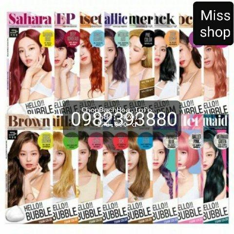Thuốc nhuộm tóc bọt biển Hello Bubble Mise en scene Hàn Quốc mẫu mới