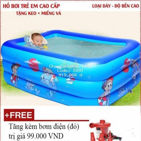 Bể Phao Bơi 3 Tầng 1M8 Cho Bé Bể Phao Bơi Có Đáy Chống Trượt