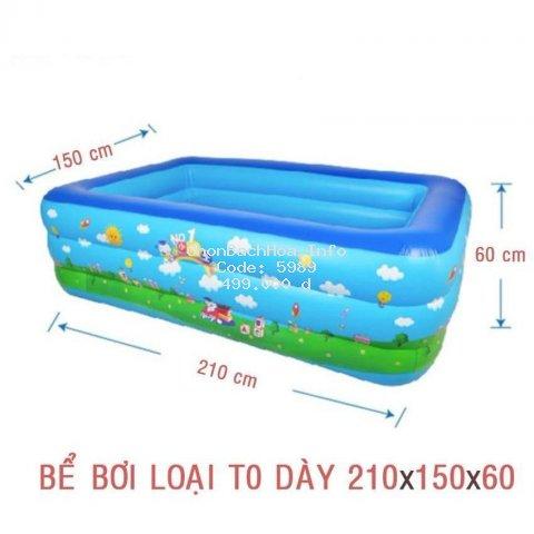 Bể Phao Bơi 3 Tầng 2M1 Cho Bé Bể Phao Bơi Có Đáy Chống Trượt