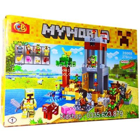 Lego Xếp Hình Minecraft My World No.35068. Có 276 Chi Tiết. Lego Xếp Hình Đồ Chơi Cho Bé.