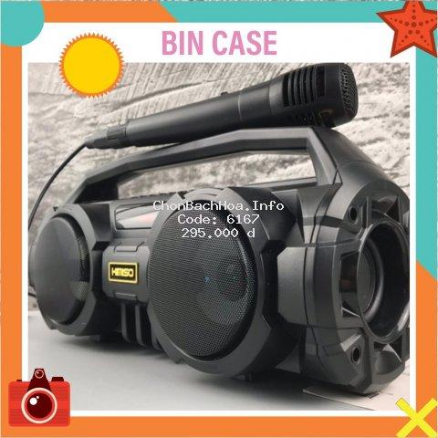 Loa Bluetooth Karaoke Xách Tay?FREE SHIP?Loa Bluetooth Karaoke  KM-S1 tKèm 1 Mic Hát Có Dây Cắm Trực Tiếp