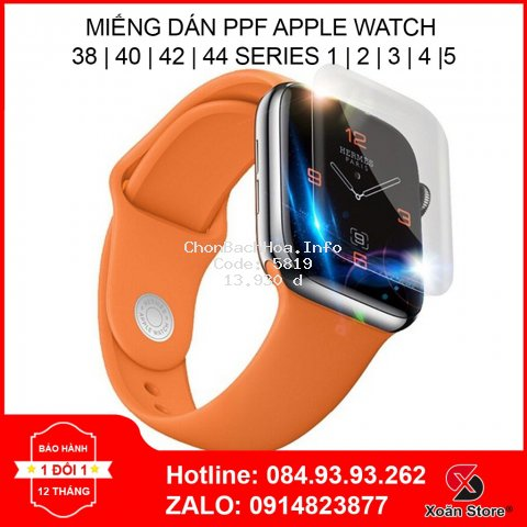 Miếng dán màn hình bảo vệ Apple Watch Series 1 2 3 4 5 Size 38 40 42 44